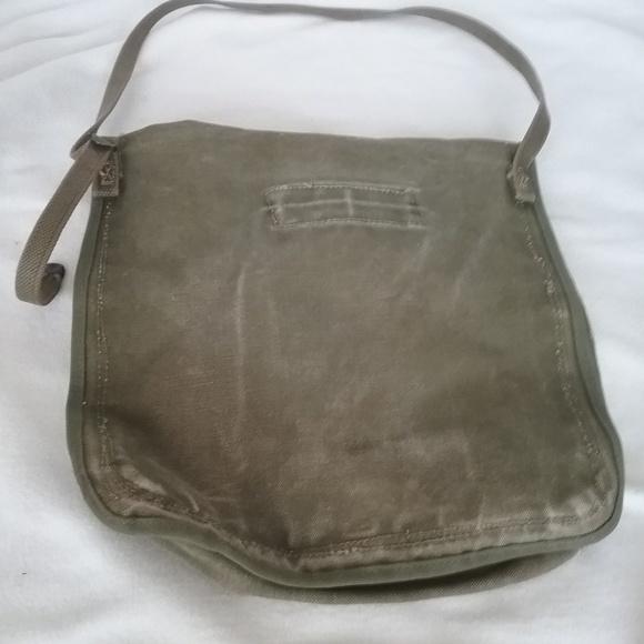 army green Other - Canvas Front Flap Messenger Shoulder Bag